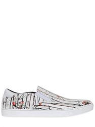 Dolce And Gabbana Bamboo Printed Leather Slip On Sneakers