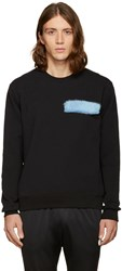 Msgm Black Fur Patch Sweatshirt