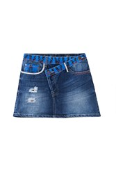 Desigual Ethnic Mini Skirt Denim