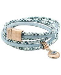 Lonna And Lilly Gold Tone Multi Stone Evil Eye Fabric Wrap Bracelet Turquoise