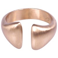 Crusoe Jewelry Adrift Vertical Open Ring Bronze