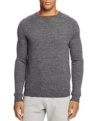 Bloomingdale's The Men's Store At Merino Wool French Terry Crewneck Sweater Black Marled