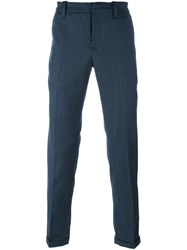 Dondup Plaid 'Gaucho' Tapered Trousers Blue