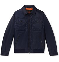 Tod's Slim Fit Shell Bomber Jacket Blue