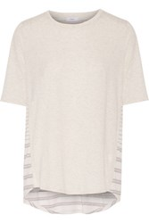 Vince Cotton And Modal Blend T Shirt Off White