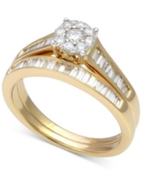 Macy's Diamond Halo Engagement Ring 3 4 Ct. T.W. In 14K Gold Yellow Gold