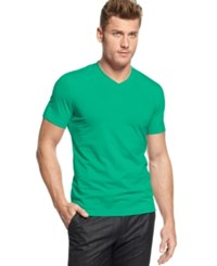 Alfani Men's Slim Fitted V Neck T Shirt Only At Macy's Sea Wave