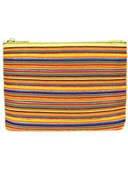 Calvin Klein Collection Beaded Stripe Clutch