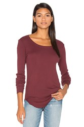Cotton Citizen Melbourne Long Sleeve Tee Burgundy