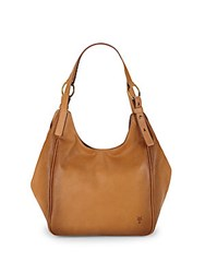 Frye Madison Leather Shoulder Bag Tan