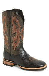 Ariat Men's 'Tombstone Ats' Leather Cowboy Boot Black
