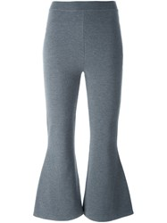 Stella Mccartney Casual Cropped Flared Trousers Grey