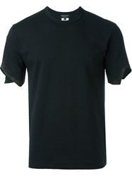 Comme Des Gara Ons Homme Plus Cut Out Mesh Panel T Shirt Black