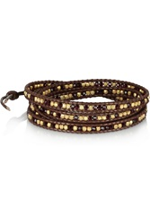 Chan Luu Cord And Beaded Bracelet Brown
