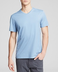 The Men's Store At Bloomingdale's Pima Cotton V Neck Tee Faded Denim