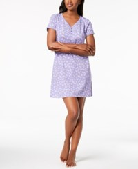 Charter Club Picot Trim Cotton Sleepshirt Created For Macy's Flutterby
