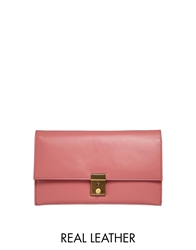Asos Leather Purse And Travel Wallet Pink