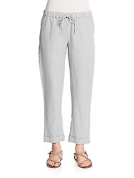 Saks Fifth Avenue Drawstring Jogger Pants Light Grey