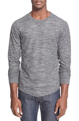Men's Todd Snyder Double Knit Long Sleeve Sweater Charcoal Heather