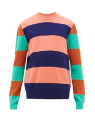 Paul Smith Striped Wool Sweater Pink Multi