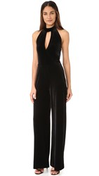 7 For All Mankind Velvet Halter Jumpsuit Black
