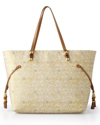 Metallic Gold Upscale Mizner Tote Lilly Pulitzer
