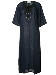 The Upside Laced Front Maxi Dress Blue