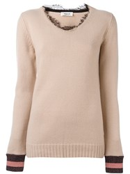 Aviu Lace Collar Jumper Pink Purple