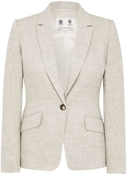 Austin Reed Natural Linen Jacket Beige