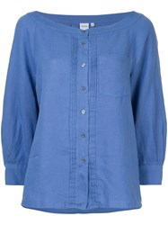 Aspesi Fitted Button Down Cardigan Blue