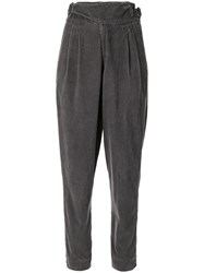 Bassike Vintage Tab Detail Cord Trousers Grey