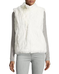 Neiman Marcus Signature Faux Fur Vest Winter White