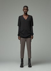 Rick Owens 'S Zionic V Neck Sweater In Black Size Xs 100 Wool