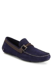 Salvatore Ferragamo Gancio Front Calfskin And Suede Drivers Winter