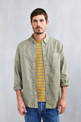 Cpo Garment Overdyed Oxford Button Down Shirt Olive
