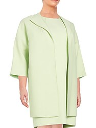 Lafayette 148 New York Plus Size Mary Open Front Jacket Mint