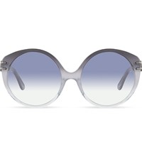 Roland Mouret Farah Round Sunglasses Grey Crystal