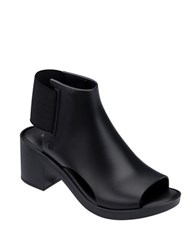 Melissa Just Dance Elastic Back Open Toe Ankle Boots Black
