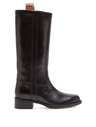 Etro Leather Boots Black