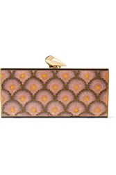 Kotur Levin Printed Acrylic Clutch Pink