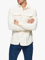 Selected Homme Jackson Cotton Shirt Bone White