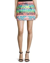 Milly Couture Neon Mini Skirt Multi