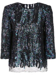 Haney Anja Sequined Blouse Blue