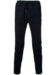 Monkey Time Gathered Ankle Trousers Blue