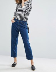 Dr. Denim Dr Haze Mid Rise Relaxed Crop Jean Mid Retro Blue