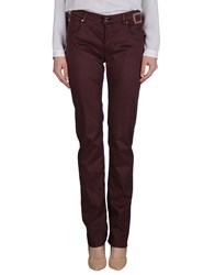 Camouflage Ar And J. Trousers Casual Trousers Women Deep Purple