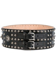Alexander Mcqueen Embellished Belt Women Leather 65 Black
