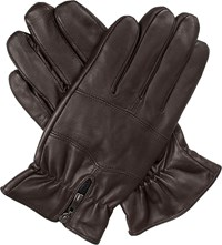 Dents Bilbury Fleece Lined Leather Biker Gloves Brown