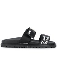 Joshua Sanders Buckle Strap Sliders Black