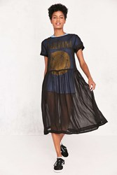 Kimchi And Blue Sparrow Sheer Drop Waist Midi Dress Black